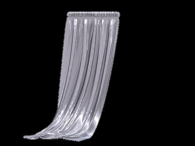 dlouhá záclona